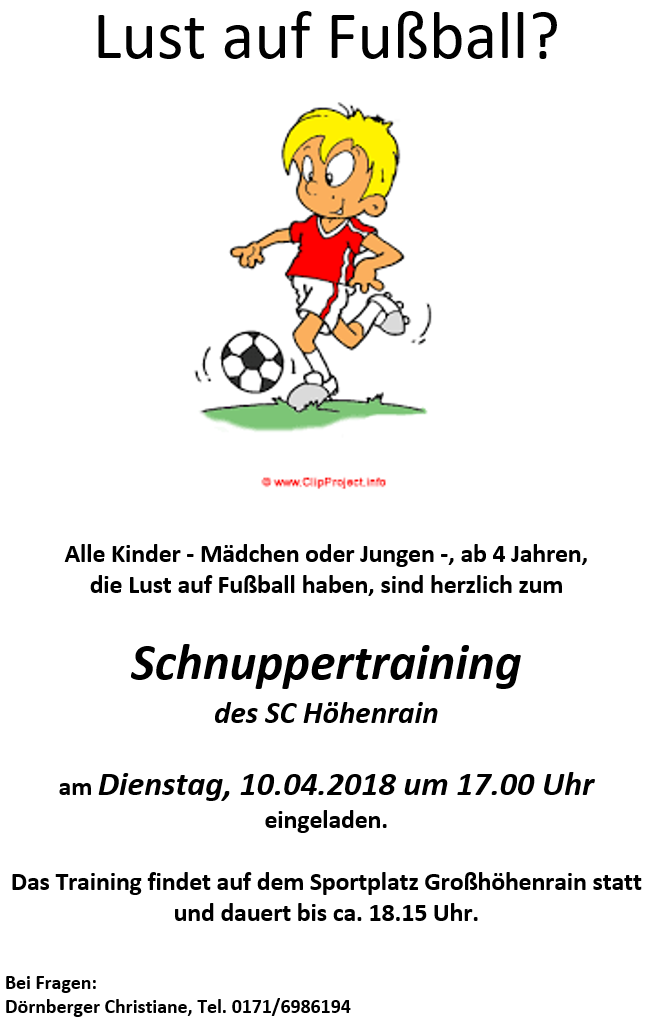 Schnuppertraining 2018
