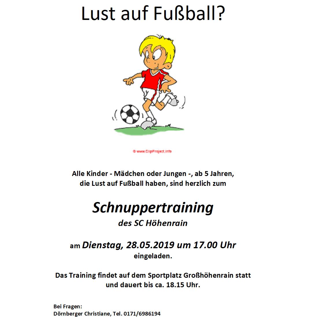 Schnuppertraining 2019